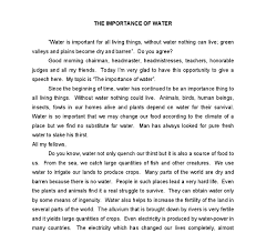 water in life essay