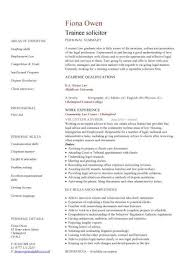 trainee solicitor cv sample