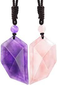 Domika 2pcs Healing Stone Matching Heart Couples ... - Amazon.com