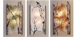 sconces wall mount glass lighting fixtures tree branch metal work art glass lighting fixtures