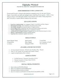 problem resumes elphaba s wicked resume the sandy sidebar blog problem résumés elphaba wicked resume pg1