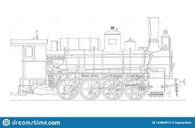 <b>Vintage</b> Cartoon <b>Hand Drawn Steampunk</b> Steam Locomotive Train ...
