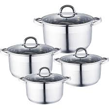 <b>Набор посуды 8</b> предметов: 4 кастрюли Webber BE-339/8