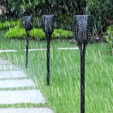 <b>Solar</b> Tiki Torch Lights LED Garden Waterproof Outdoor Courtyard ...