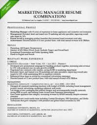 combination resume samples  amp  writing guide   rgmarketing manager combination resume sample