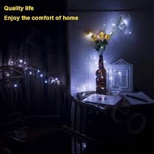 8Pcs 20 <b>LED</b> Fairy Light Battery Operated Starry <b>Copper</b> Wire Small ...