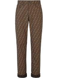 <b>Fendi</b> - <b>джинсы</b> с монограммой FF - для мужчин - Хлопок/Кожа ...