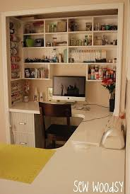 great idea 12 of the craft room in the closet and extend the amazing office table chairs
