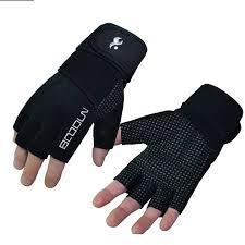 Men Women BOODUN Half Finger <b>Microfiber</b> Lycra Fitness Mittens ...