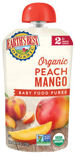 Peach Mango Stage 2 <b>Baby Food</b> Puree | Earth's Best <b>Organic</b>