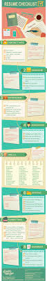 a checklist for the perfect resume resume checklist infographic