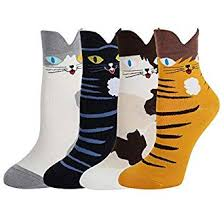 Happypop Women Girls <b>Cute</b> Socks <b>Cartoon Animal Funny</b> Novelty ...