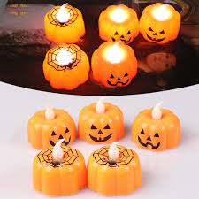 Pumpkin Candle Lights <b>LED</b> Light-Emitting Electronic <b>Halloween</b> ...