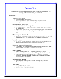 tips on a good resume cipanewsletter tips for a good resume getessay biz