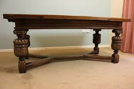 antique scottish oak refectory draw