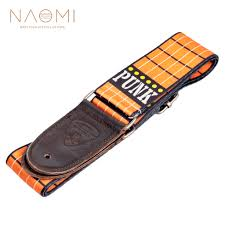 <b>NAOMI Guitar Strap</b> Nylon Leather End <b>Adjustable</b> Shoulder Strap ...