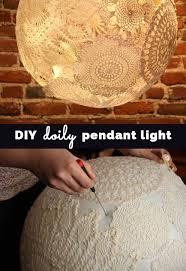 diy doily pendant lighting cool bedroom decor ideas and creative homemade lighting ideas cheap diy lighting