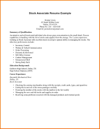 student resume samples no experience   Servey Template Sample   stock associate resume