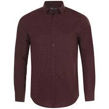 <b>Рубашка мужская BECKER</b> MEN, бордовая с белым - dk-print48.ru