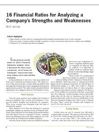 16 financial ratios to determine a company s strength and 16 financial ratios to determine a company s strength and weaknesses revenue ratio