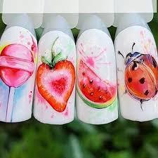 1 шт. клубника лето фрукты Стикеры для питья для гвозди ...