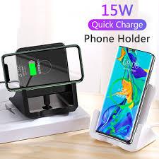 <b>15W</b> QI Fast Wireless Charger <b>magnetic Phone</b> Holder <b>Car</b> Mount ...