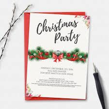 christmas invitation card invitation templates on creative market