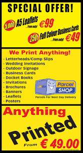 kildareprint com postcards standard posters raffle tickets roll up displays show programes sponsor cards thank you cards vinyl stickers wedding invitations