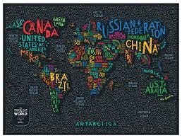 Географическая <b>карта 1DEA.me Travel Map</b> Letters World