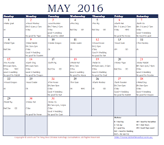 good days and bad days may 2016 chi yung office feng shui