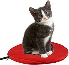 OOEOO New Round Waterproof <b>Pet</b> Heated Pad <b>Cat Dog</b> Warmer ...