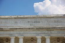 dulce et decorum est   wikipediadetail of the inscription over the rear entrance to the arlington memorial amphitheater  the inscription reads   quot dulce et decorum est pro patria mori quot