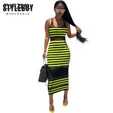 <b>Neon Green</b> Striped Print Wrap Women Black <b>Mesh Patchwork</b> Dress