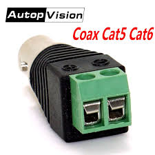 <b>Freeshipping 10pcs BNC</b> Connectors Coax Cat5 Cat6 <b>BNC</b> female ...