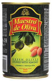 <b>Maestro de Oliva оливки</b> с миндалем, 300 г — купить в интернет ...