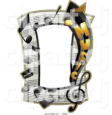 vector clipart of a music notes frame border design