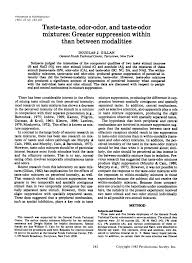 (PDF) <b>Taste</b>-<b>taste</b>, odor-odor, and taste-odor mixtures: Greater ...