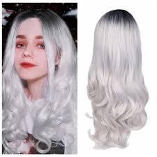 <b>Wignee Long Hair Wavy</b> Wigs Heat Resistant Synthetic Wig Ombre ...
