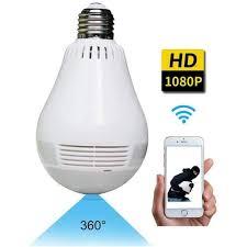 Wireless 360° Panoramic <b>Bulb</b> Full <b>HD 1080P</b> Smart Home Security ...