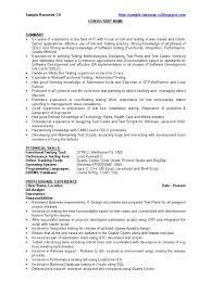 Qa Resume Objective  Resume Samples Manual QA Tester Resume Sample
