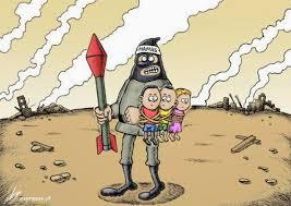 Risultati immagini per gaza war cartoon