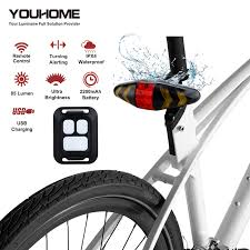 VGEBY <b>Cycling Taillight Bike</b> Light <b>USB Charging</b> LED Remote ...