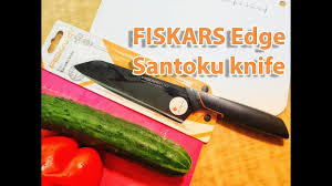 <b>Нож</b> кухонный   <b>Fiskars Edge</b> Santoku <b>knife</b> - YouTube