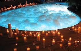 atmosphere candles bathroom  romantic bathroom ideas bath blue bubbles candles favimcom