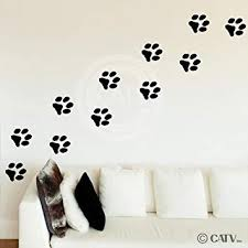 Animal Paw Prints Vinyl Wall Pattern Decal Stickers ... - Amazon.com