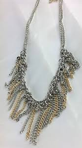 Paparazzi Necklace Jewelry Retro <b>Edge Gold Silver Fringe</b> Chains ...
