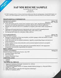sap mm consultant resume sap mm consultant cv sample sap resume sample sap mm consultant cover letter