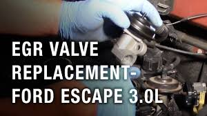 <b>EGR Valve</b> Replacement - <b>Ford</b> Escape 3.0L - YouTube