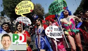 Risultati immagini per marino a roma corteo gay