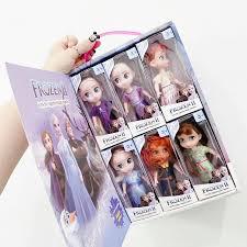 <b>6Pcs</b>/Set <b>Disney Frozen</b> Action Figure Dolls Toy Elsa Anna Girl ...